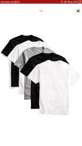 Kit 5 camisetas básicas-Algodão