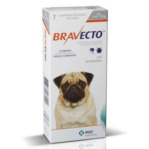 [20% Cash Back Ame] Bravecto Antipulgas E Carrapatos Para Cães De 4,5 A 10kg