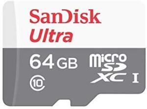 Cartão Micro SD Sandisk 64GB 80mb/s Sdxc Cl 10 Lacrado - R$47