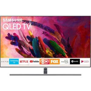 """Smart TV QLED 55"""" Samsung 2018 QN55Q7FNAGXZD Ultra HD 4k Com Conversor Digital 4 HDMI 3 USB Wi-Fi - R$3469"""