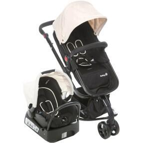 Carrinho de Bebê Safety-st Travel System Mobi - Bege Light - R$1498
