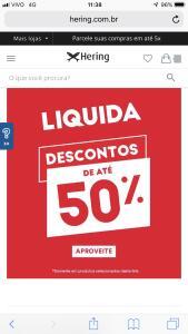 Liquida Hering - Até 50% OFF