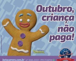 Beto Carrero World Outubro Grátis para criança .