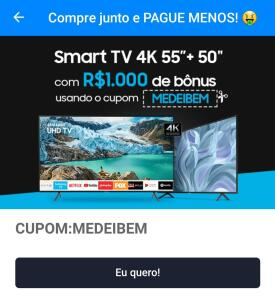 "SMART TV Samsung 4K  55"" + 50"""