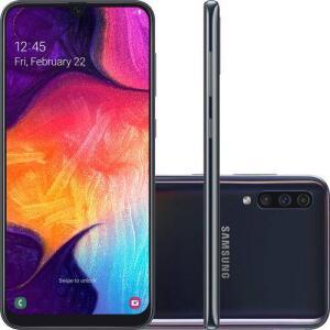 [R$1309 com AME] Smartphone Samsung Galaxy A50 - Preto | R$1399