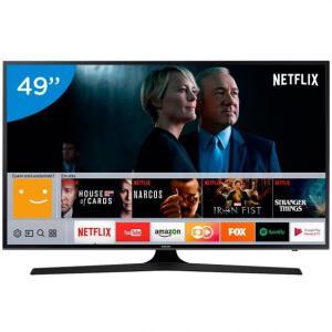 "Smart TV LED 49"" Ultra-HD UN49MU6100 Samsung - Bivolt por R$ 1400"