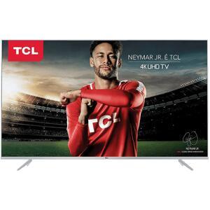 "Smart TV LED 50"" TCL P6US Ultra HD 4K HDR 3 HDMI 2 USB - R$ 1709"