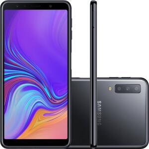 "Smartphone Samsung Galaxy A7 128GB Dual Chip Android 8.0 Tela 6"" Octa-Core 2.2GHz 4G Câmera Triple - Preto"