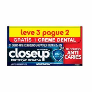 Kit Creme Dental Close Up Bioativa Anticarie Lv3pg2