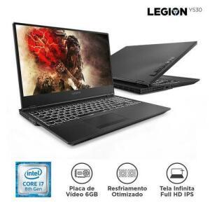 """[Cartão Shoptime] Notebook Lenovo Gamer Legion Y530 I7-8750h 16gb 1tb 128 Ssd Gtx1060 Win10 15,6""""fhd 81m70000br Preto (1x AME R$5220)"""