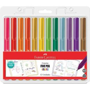 Caneta Fine Pen Colors 12 cores Faber Castell - R$47