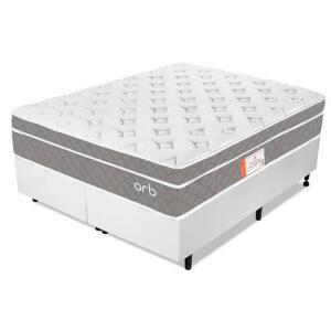 Cama Box Queen Colchão Molas Ensacadas Espuma Nasa Viscoelástica Ortopédico D33 com Pillow - Orb | R$1.202
