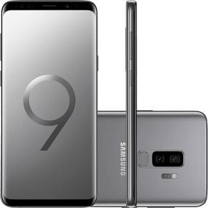 "Smartphone Samsung Galaxy S9+ Dual Chip Android 8.0 Tela 6.2"" Octa-Core 2.8GHz 128GB 4G Câmera 12MP Dual Cam - Cinza (1x AME R$2090)"