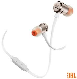 Fone de Ouvido In Ear JBL T290 Branco e Dourado R$76
