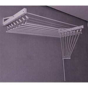 Varal De Parede Individual 10 Varetas Branco 120cm Inovar Metais | R$250