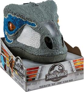 Mascara Eletrônica Raptor, Jurassic World, Cinza, Mattel   R$149