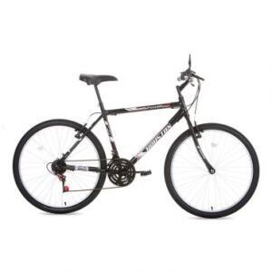 Bicicleta Foxer Hammer Preta, Aro 26, 21 Marchas, Freio V-Brake, Quadro Tamanho 20 e Em Aço Carbono - Houston