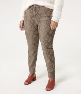 Calça Animal Print em Sarja - Curve - Plus size R$80