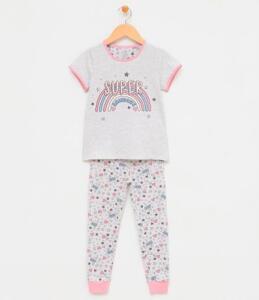 Pijama Infantil c/ Estampa que Brilha no Escuro - Tam 7/8 R$30