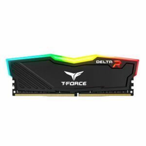 MEMORIA TEAM GROUP T-FORCE DELTA RGB 16GB (1X16) DDR4 2666MHZ PRETA, TF3D416G2666HC15B01 - R$499