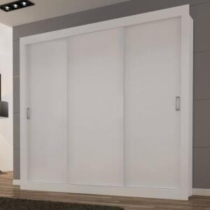 Guarda Roupa Casal 3 Portas de Correr Smart Siena Móveis Branco por R$ 400