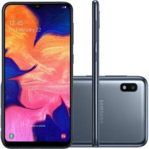 "Smartphone Samsung Galaxy A10 32GB Câmera Traseira 13MP + 5MP Selfie 5MP Tela Infinita 6.2"" Azul | R$ 699"