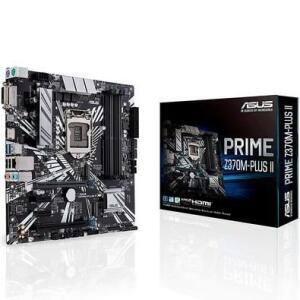 Placa-Mãe Asus Prime Z370M-Plus II, Intel LGA 1151, mATX, DDR4 | R$ 540