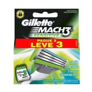 Primeira Compra-Carga Gillette Mach 3 Sensitive L3P2 2,99 Frete gratis retirar na loja.