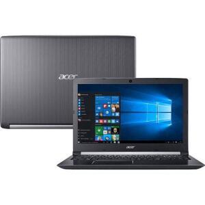 "Notebook A515-51-75RV Intel Core I7 8GB 1TB LED 15.6"" Windows 10 Cinza - Acer | R$2.499"