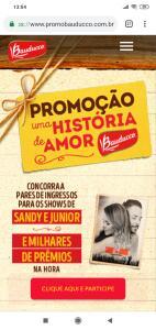 Promoção | Uma História de Amor Bauducco - Sandy e Jr