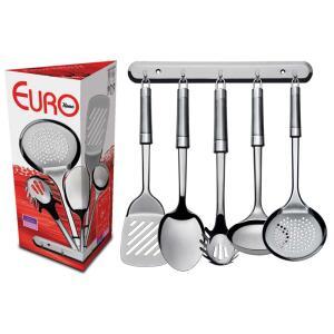 Conjunto de Utensílios Euro Home p/ Cozinha IN9444 c/ 6 Peças R$39