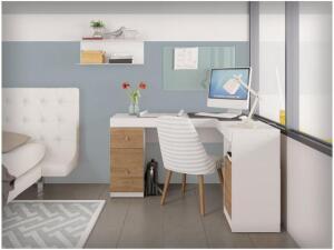 Escrivaninha/Mesa para Computador 1 Porta - 2 Gavetas Líder Design Work | R$256