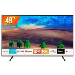 Smart TV LED 49`` Ultra HD 4K Samsung RU7100 3 HDMI 2 USB Wi-Fi | R$1.849