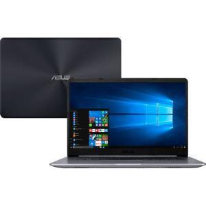 "Notebook Asus Vivobook X510UR-BQ378T Intel Core i5 4GB (Geforce 930MX) 1TB Tela 15,6"" Windows 10 - Cinza - R$2409"