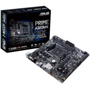 Placa-Mãe Asus Prime A320M-K, AMD AM4, mATX , DDR4 - R$300