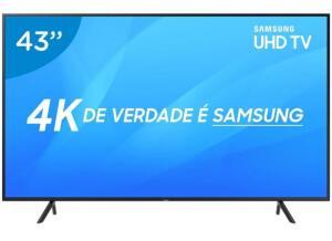 "Smart TV 4K LED 43"" Samsung UN43NU7100 Wi-Fi - Conversor Digital 3 HDMI 2 USB - R$1.599"