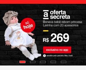 [APP Americanas] Boneca bebê reborn princesa larinha - R$269