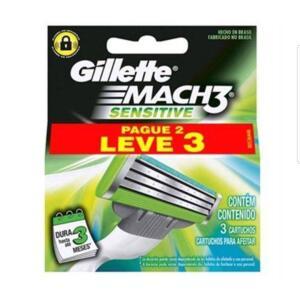 [6 unidades] Carga Gillete Mach 3 Sensitive L3P2 - R$16