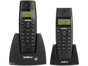 Telefone sem Fio Intelbras TS 40 C + Ramal - Identificador de Chamadas Sinalizador de LED Preto | R$125