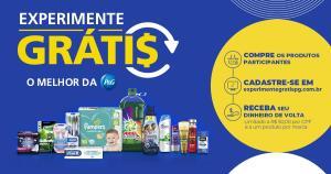 Compre R$ 50 reais em produtos P&G e tenha o CashBack Total