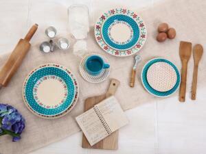 Aparelho de Jantar Chá 20 Peças Biona Cerâmica - Redondo Donna | R$90