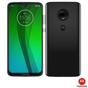 """Moto G7 Ônix Motorola com Tela de 6,24"""", 4G, 64GB e e Câmera de 12 MP + 5 MP"""