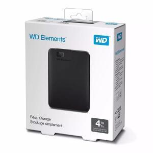 HD Externo Portátil WD (Western Digital) Elements SE 4TB USB 3.0 Preto | R$482