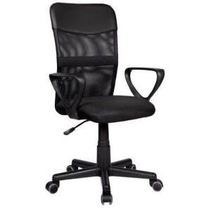 Cadeira Diretor Pelegrin Pel-0204 Em Tela Mesh Preta | R$152