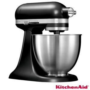 Batedeira Stand Mixer Artisan Mini Black Matte KitchenAid 110V KEA25AE - R$1199