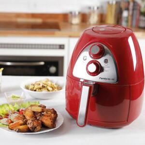 Fritadeira Air Fryer 3,2L Vermelha Fun Kitchen -por R$ 252