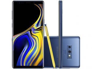 "Smartphone Samsung Galaxy Note 9 128GB Azul 4G - 6GB RAM Tela 6,4"" Câm. Dupla + Câm. Selfie 8MP - R$2609"