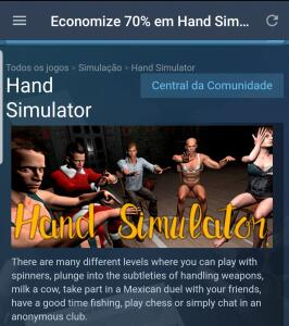 [Steam] hand simulator - R$1
