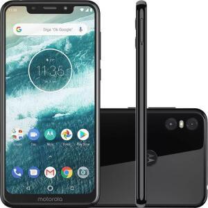 Celular Motorola One Preto 64gb 4gb Ram Tela De 5.9 | R$1.099