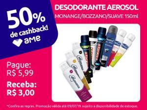 [Loja Física] Desodorante Monange/Bozzano/Suave 50% AME